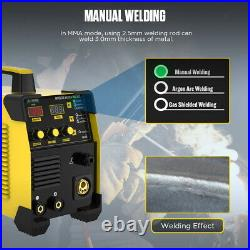 MIG/ARC/TIG/MMA Inverter Welder 160A Gas Gasless IGBT Stick Welding Machine 110V