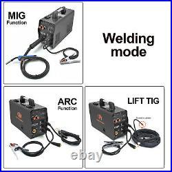 MIG Welder 200A 220V Gas Gasless Inverter ARC Lift TIG MMA 3in1 Welding Machine