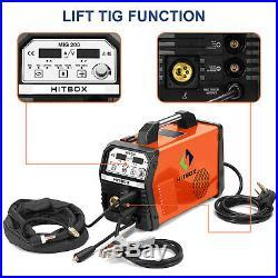 MIG Welder IGBT Inverter 200AMP 220V DC MIG MAG ARC LIFT WIG-Schweißgerät HITBOX