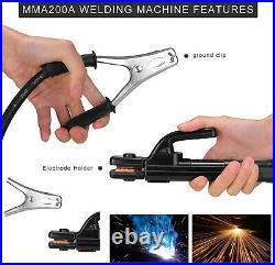 MMA ARC IGBT Welding Machine 200 AMP 110/220V DC Inverter LED Display Portable