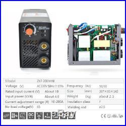 MMA Electric Welder IGBT Inverter Arc Welding Machine 10-200A Portable ZX7-200