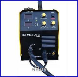 Magnum MIG 170 ARC inverter inverted welder 160A MIG / MAG / MMA / FLUX /BRAZING