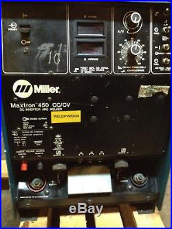 Miller Maxtron 450, CC/CV-DC Inverter Mig Arc welder welding source