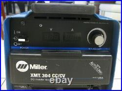 Miller XMT 304 CC/CV DC Inverter Arc / Tig / Mig Welder