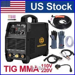 Mini TIG Welder Stick ARC 200A 110V 220V Inverter IGBT TIG MMA Welding Machine