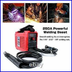 Mini Welding Machine, 110V 250A ARC Stick Welder IGBT Hot Start Inverter with
