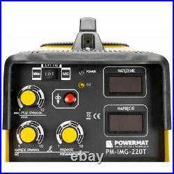 POWERMAT 220T MIG MAG FCAW TIG MMA ARC welder inverter 220AMP MIG220 5in1welding