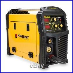 POWERMAT 230T MIG MAG FCAW TIG MMA ARC welder inverter 230AMP MIG220 5in1 VAT0