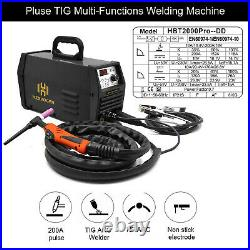 Pulse TIG Welder 110V/220V TIG ARC MMA Stick Inverter Welding Machine TIG200P