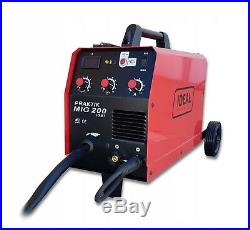 SET IDEAL PRAKTIK 200A inverter welder MIG MAG ARC MMA GAS & GASLESS + Gloves