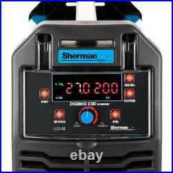 Sherman DIGIMIG 200 Synergy Welder Inverter MIG + SpoolGun MMA ARC TIG Brazing