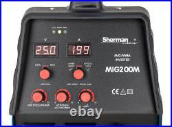 Sherman Inverter MIG200M 200Amp MMA Brazing ARC MIG/MAG Welder + ALU SPOOL GUN