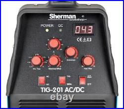 Sherman TIG 201 AC/DC 200A Inverter Welder AC 230 50Hz ARC MMA