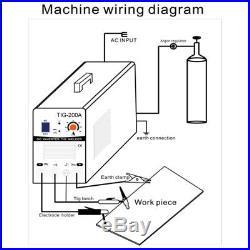 TIG 110/220V Inverter 200A Argon Gas WIG & ARC STICK MMA Welding Machine Welder