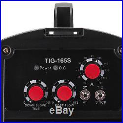 TIG-165S, 160 Amp TIG Torch Stick ARC DC Inverter Welder, 110/230V Dual Voltage