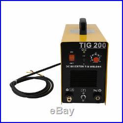 TIG-200 220V TIG Welder 200Amp DC Inverter pulse heat Arc Welding Machine BT