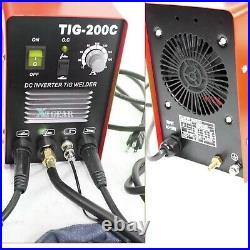 TIG 200 AMP 220v DC Inverter MMA Welding Machine Stainless /Carbon Steel Welder