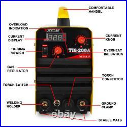 TIG-200A, 200 Amp TIG Torch Stick ARC DC Inverter Welder, 110/230V Dual Voltage
