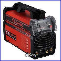 TIG-200DC, 200 Amp TIG Torch, Stick ARC DC Inverter Welder 115/230V Welding New