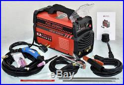 TIG-200DC, 200 Amp TIG-Torch Stick ARC DC Inverter Welder 115/230V Welding New