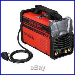 TIG-220DC, 220 Amp TIG Torch, Stick Arc DC Welder 110/230V Dual Voltage Welding