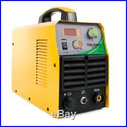 TIG 220V DC Schweißer Inverter 200Amp Argon Gas WIG & ARC STICK MMA Schweißgerät