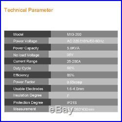 TIG MIG ARC Welder 230V Inverter MMA 3 in 1 Welding Machine & Torch Accessories