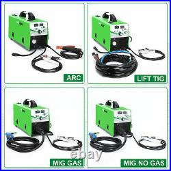 TIG MIG Welder 160A IGBT Inverter ARC STICK GAS GASLESS LIFT TIG 5 IN 1 Welding