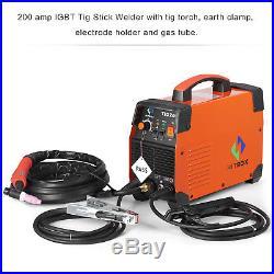 TIG Welder 200A ARC TIG Inverter Welding Machine Combo 220v MMA Stick DC IGBT