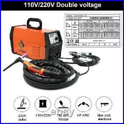 TIG Welders 200AMP 110V/220V Pluse High Frequency ARC Stick TIG Welding Machine