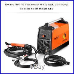 TIG Welding Machine 220V 200A Inverter TIG Pulse Welder ARC Digital Control