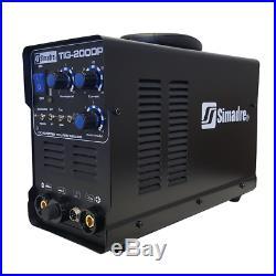 Tig Mma Arc Pulse Simadre Tig200dp 200a 110/220v DC Welding Machine Ft Pedal