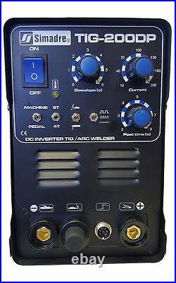 Tig Mma Pulse Simadre Tig200dp 110/220v 200a DC Welding Machine Argon $ Ft Pedal