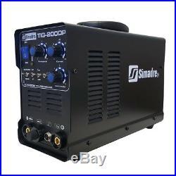 Tig Mma Pulse Welder Simadre 200a Tig200dp 110/220v DC Welding Machine Argon Reg