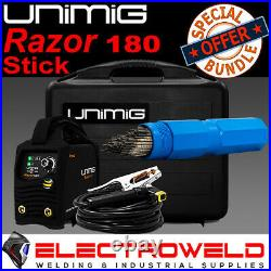 Unimig Razor 180 Stick Welder + Electrode Bundle -arc Tig Razorweld Kumjrrw180ca