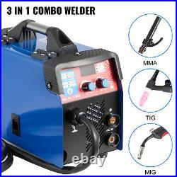VEVOR 3 in 1 MIG Welder 110V Gasless Inverter Lift TIG ARC Welding Machine 160 A